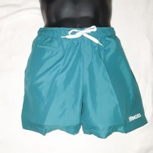 Men's Wings Solid Teal Swim Trunks Shorts